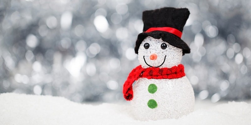 Christmas Snowman with hat and scarf