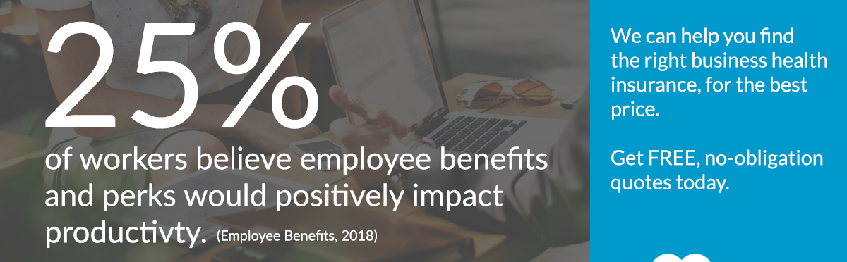THIS survey graphic - workers believe employee benefits would boost productivity.